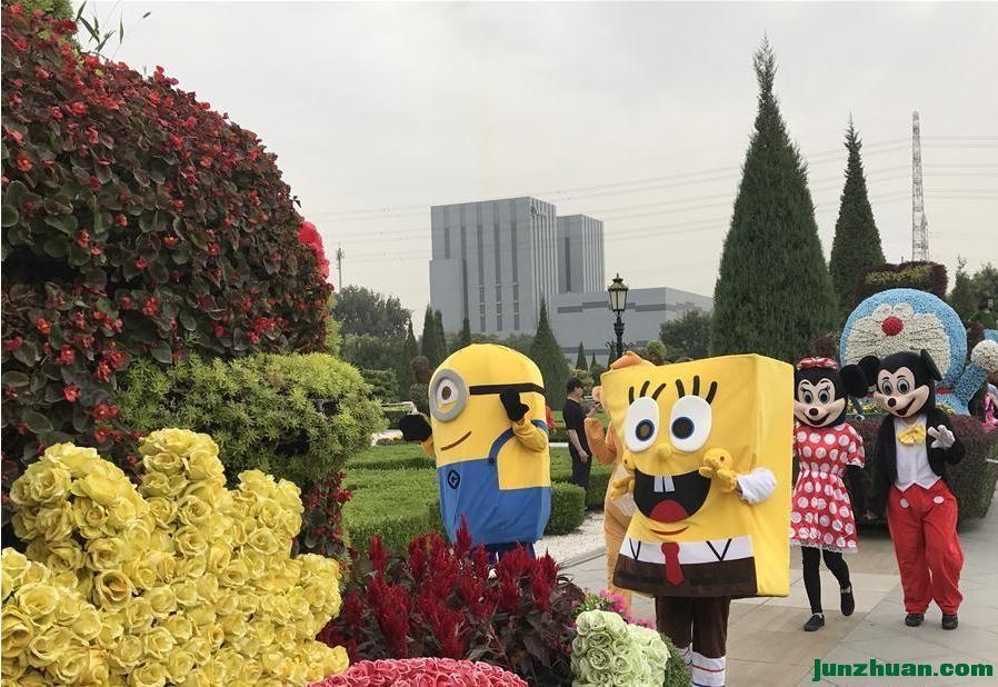 北京世界花卉大观园花游迎佳节