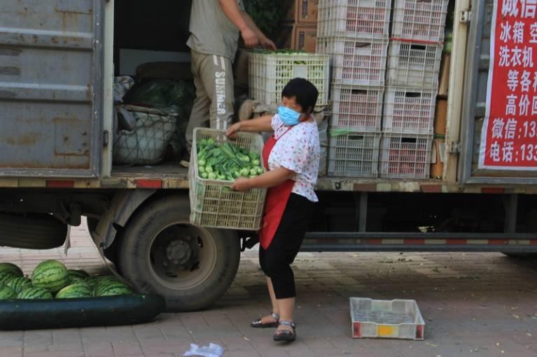 晨拍社区里的蔬菜直通车10.jpg